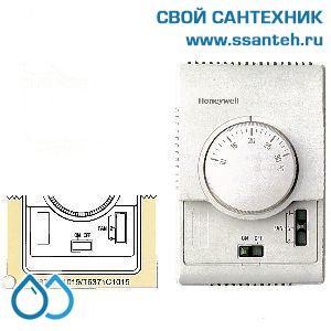 15741 HONEYWELL T6371C1015 Термостат для вентиляции 3-х ск., 10-30С, 230В, антисипатор, нагрев/охлаждение