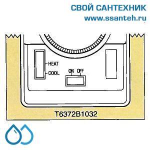 15744 HONEYWELL T6372B1032 Термостат для фэн-койлов 10-30С, 230В, антисипатор, нагрев/охлаждение