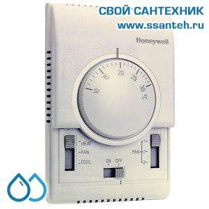 15748 HONEYWELL T6373B1064 Термостат для фэн-койлов 3-х ск., 10-30С, 230В, антисипатор, нагрев/охлаждение