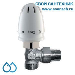 16562 HERZ 1920124 RTL Клапан двухходовой для теплого пола угловой, DN15, +25...+60°С, Kvs 0,60 м3/час
