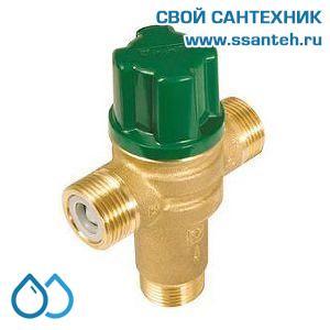 16801 HERZ 2776654 Клапан трехходовой термостатический для горячей воды, DN20, +35...+65C, 4-60 л/мин