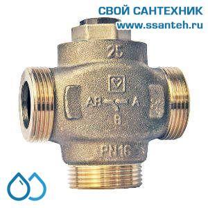 17525 Клапан смесительный для повышения температуры обратки DN25, байпас отключаемый