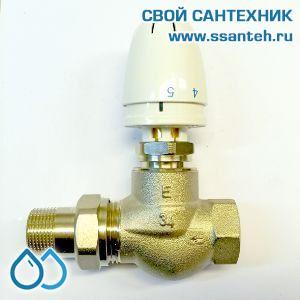 18820 TERMICUS 7723T920120 RTL Клапан двухходовой для теплого пола проходной, DN20, +25...+60°С, Kvs 5.0 м3/час