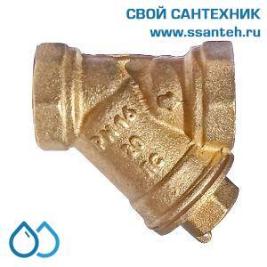 """18914 Termicus Фильтр грязевик косой DN15 PN 16 1/2"""" ВР без покрытия"""
