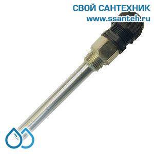 """20392 Termicus Гильза для погружного датчика, нержавеющая сталь, 1/2"""", 11 мм,  L135 мм"""