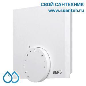 20495 BERG  BT10-FS-230 Термостат электронный комнатный, 230В, 2А, +10…+28 °C, ШИМ-регулирование, (опция внешний датчик)