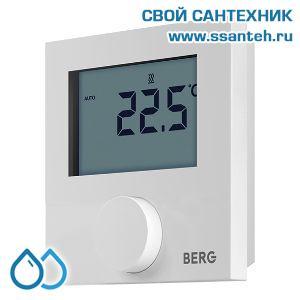 20497 BERG  BT30L-230 Термостат электронный комнатный, дисплей с подсветкой, 230В, 2А, +10…+28 °C, ШИМ-регулирование