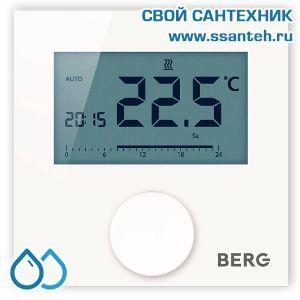 20498 BERG  BT50-FS-230 Термостат программируемый комнатный, дисплей с подсветкой, 230В, 2А, +10…+28 °C, ШИМ-регулирование, (опция внешний датчик)
