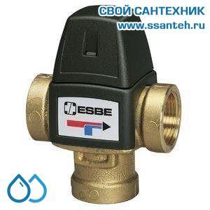 06251 ESBE 31100300 Клапан трехходовой термостатический смесительный, DN15, +20...+43°C,  Kvs 1,5 м3/час