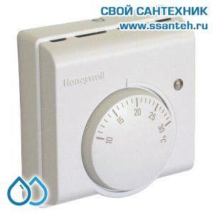 07043 Honeywell T4360D1003 Комнатный термостат для отопления и охлаждения, 10-30С, SPST, 230В, 6(2)А, переключатель режимов