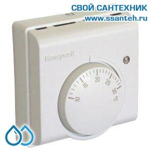 07044 Honeywell T4360D1011 Комнатный термостат для отопления и охлаждения, 10-30С, SPST, 230В, 6(2)А, переключатель режимов, светодиод