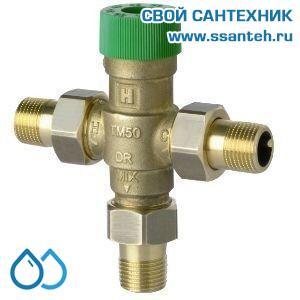 """08639 Honeywell TM50-1/2A Термостатический клапан с защитой от ошпаривания, 1/2"""", 30 - 60С, 25 л/мин"""